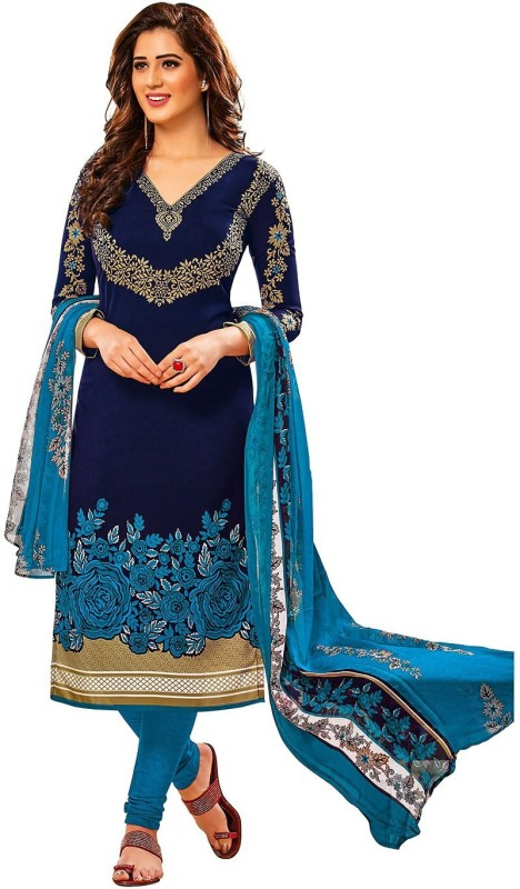 Jevi Prints Synthetic Printed, Floral Print Salwar Suit Dupatta Material(Un-stitched)