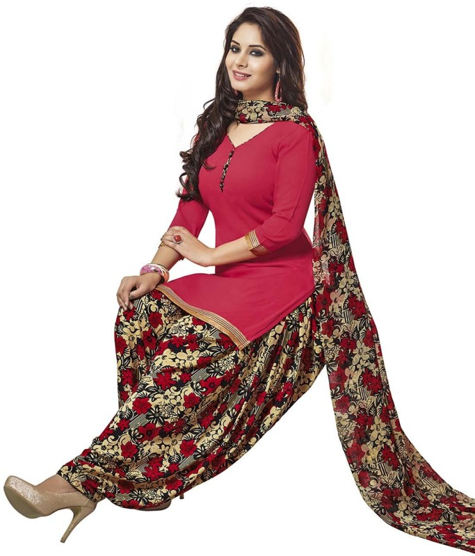 Jevi Prints Synthetic Printed, Solid Salwar Suit Dupatta Material(Un-stitched)