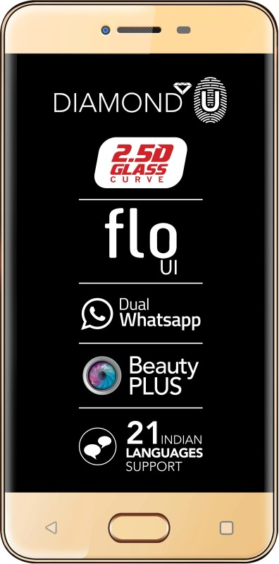 Celkon Diamond U 4G (Gold, 8 GB)(1 GB RAM)