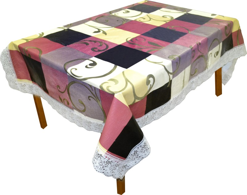 Dream Home Abstract 4 Seater Table Cover(Multicolor, PVC)