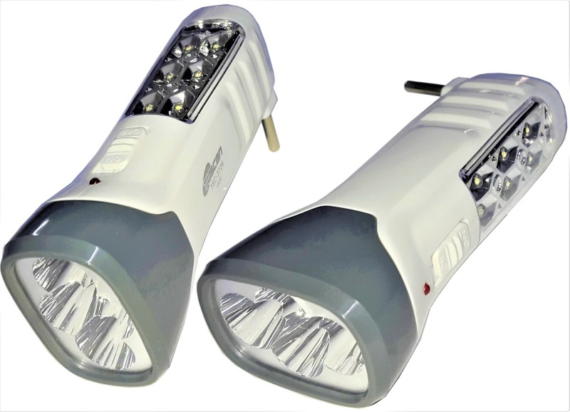 Tuscan Set of 2Pcs TSC-3726 Double Mode Rechargeable LED Torch(White : Rechargeable)