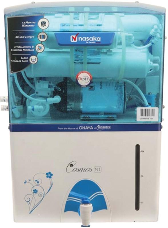 Nasaka Cosmos N1 11 L RO + UV Water Purifier(White)