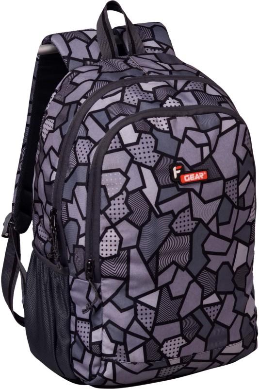 F Gear Castle V2 Grey Printed 27 L Backpack(Grey)
