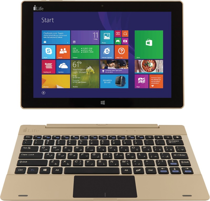 i-Life ZED Series Atom Quad Core - (2 GB/32 GB EMMC Storage/Windows 10 Home) ZED Book Goin / ZED Book W 2 in 1 Laptop(10.1 inch, Gold, 1.06 kg)