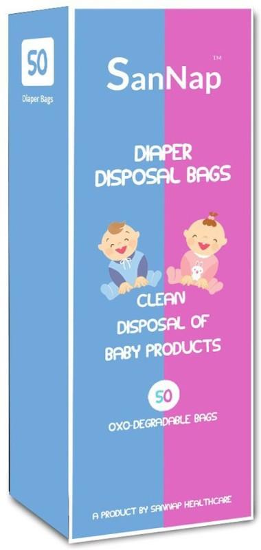 SanNap SanNap Baby Diaper Disposal Bags (50 Count) Baby Diaper Disposal Bag(White)