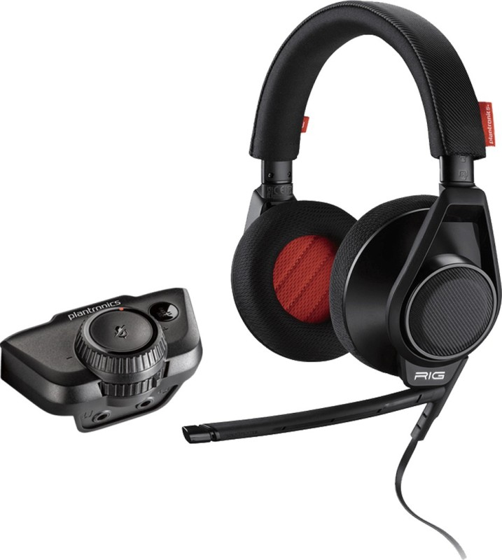 Plantronics RIG Stereo Headset with Mic(Black, Over the Ear)