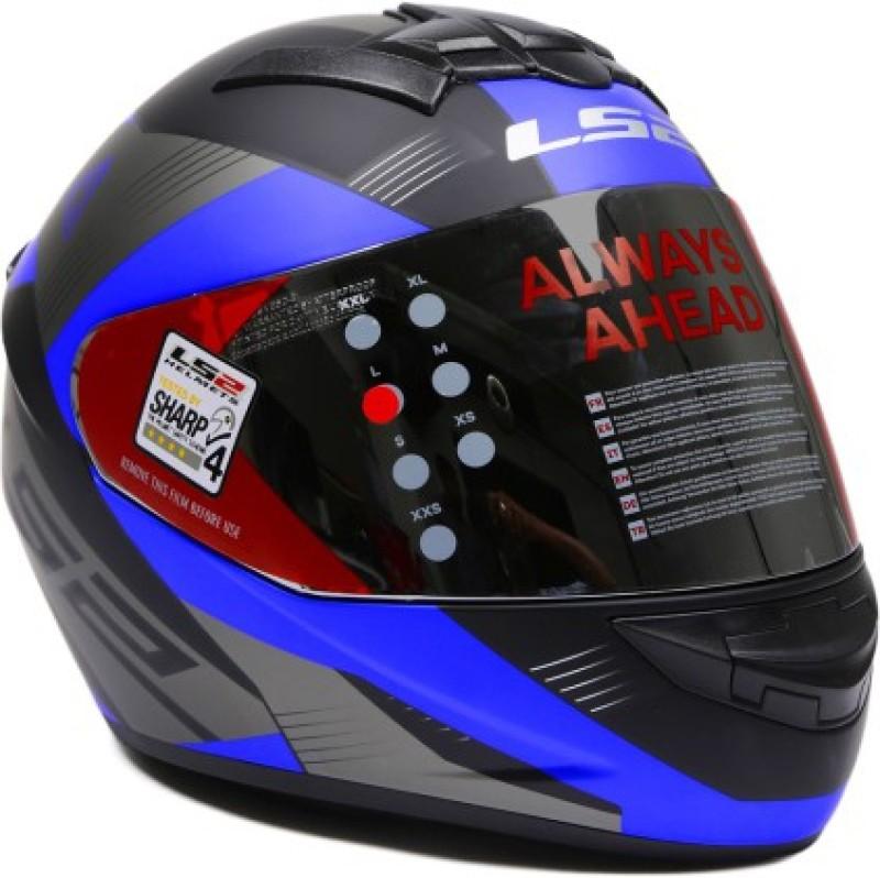 LS2 Trooper Motorsports Helmet(Black, Blue)