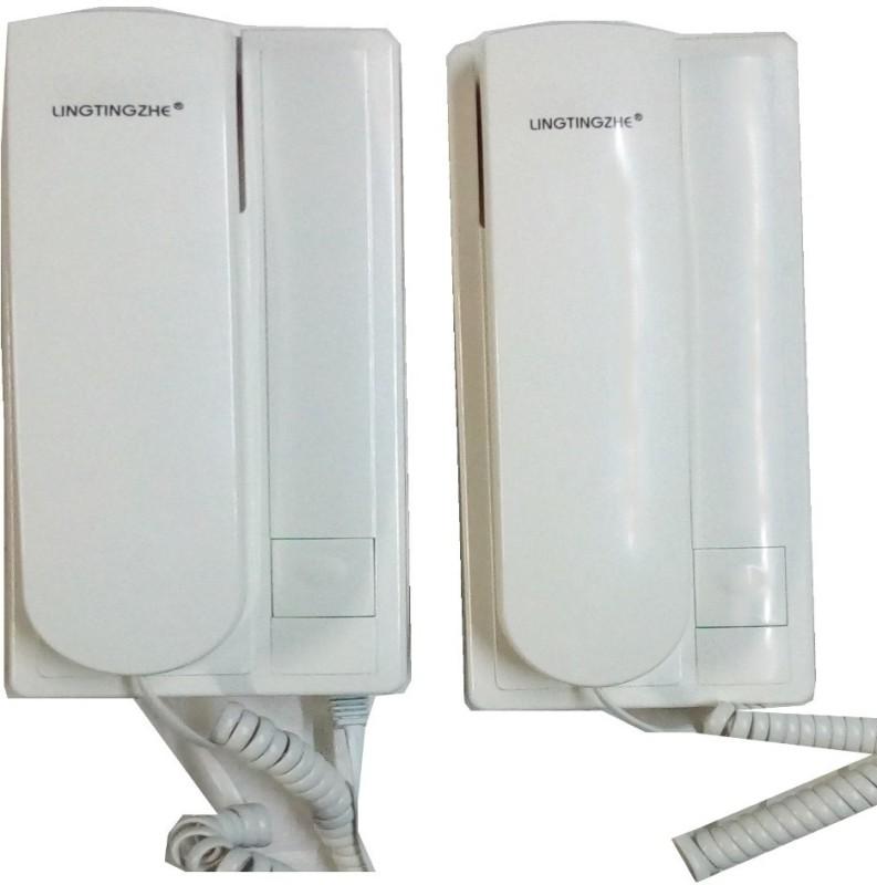 ORIENTAL LINGTINGZHE Intercom phone for office home Godown Corded Landline Phone(White)