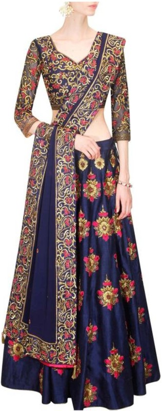 LIBAZART Embroidered Ghare Lengha