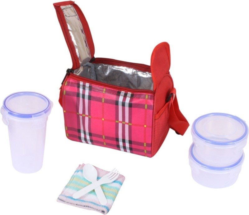 Topware TP057 Pink Lock 3 Containers Lunch Box(750 ml)