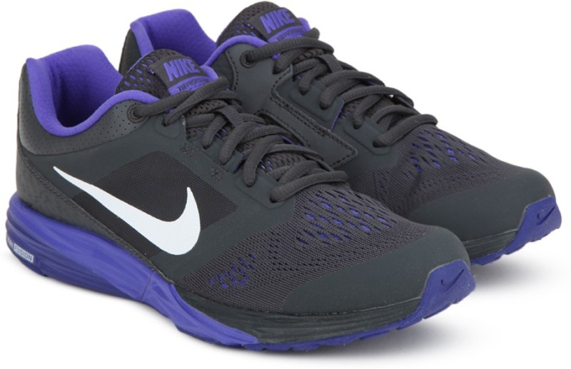 Nike WMNS TRI FUYESON RUN MSL Running Shoes For Women(Black, Purple)