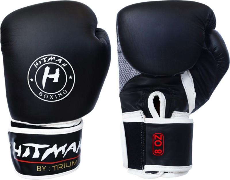 Hitman FORCE Black Boxing Gloves (XS, Black)