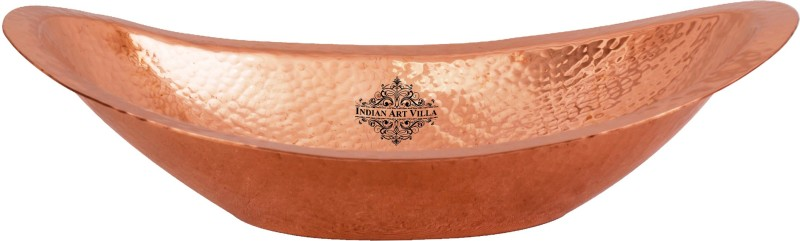 IndianArtVilla Copper Bread Basket(Brown)