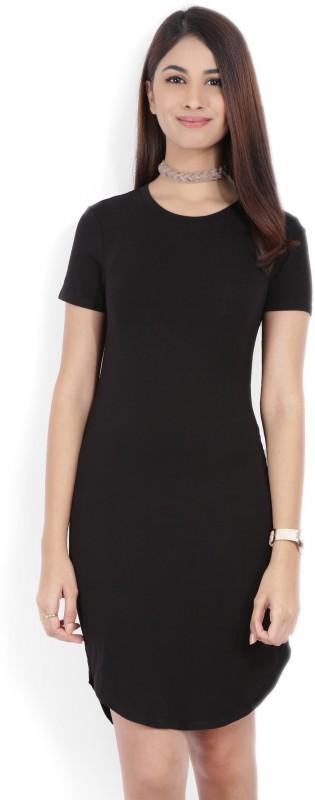 Forever 21 Women A-line Black Dress
