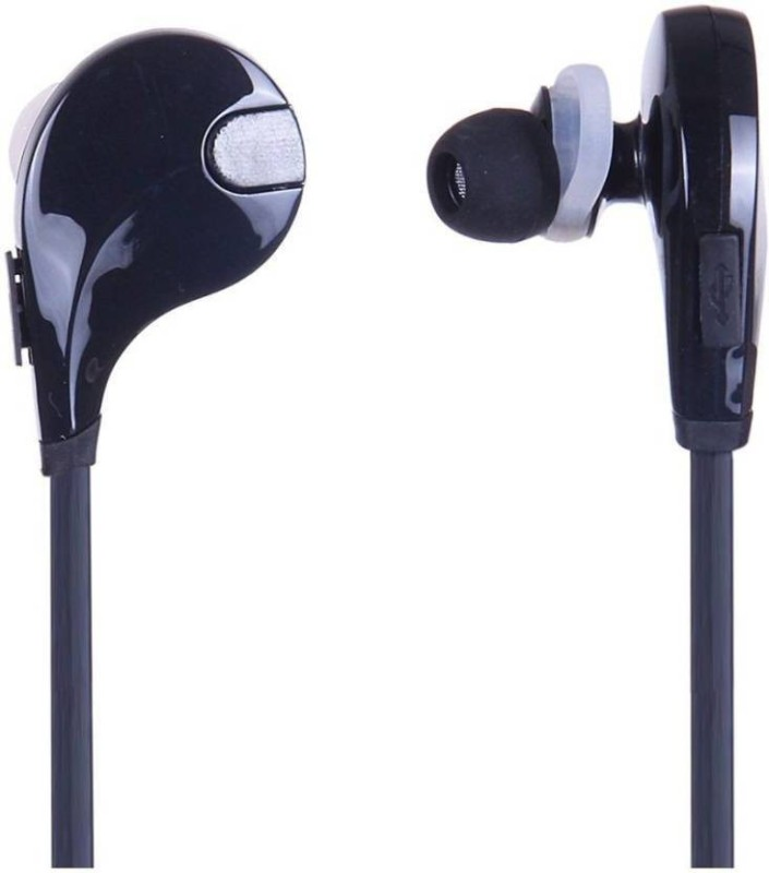 Defloc QY7-14 Wireless bluetooth Headphone(Black, HF-14, In the Ear)