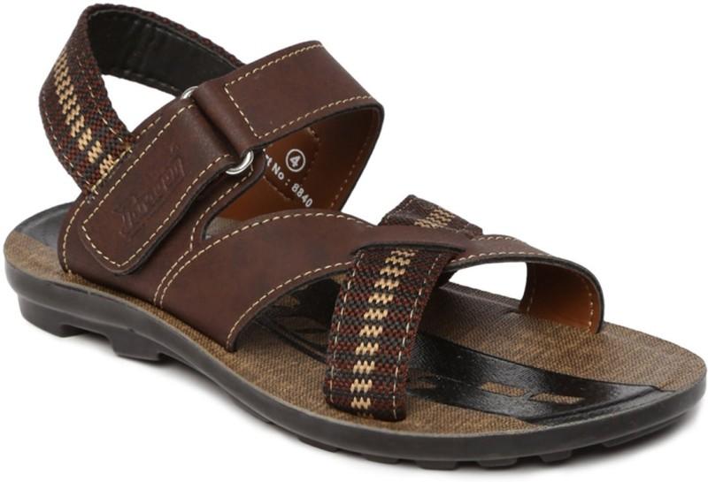 Paragon Boys Velcro Flats(Brown)