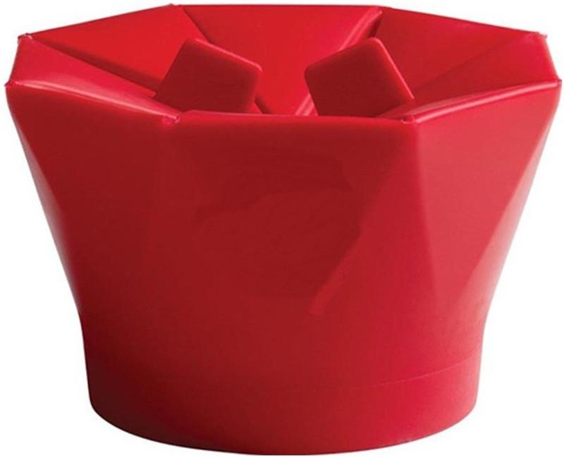 vepson Microwave Silicone popcorn Maker Bucket bowl VS85 200 ml Popcorn Maker(Red)