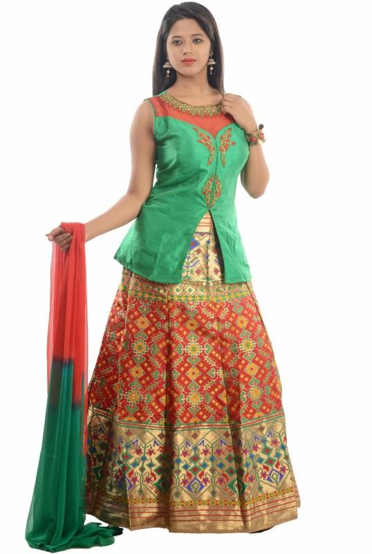 Madona Self Design Kurti & Salwar(Stitched)