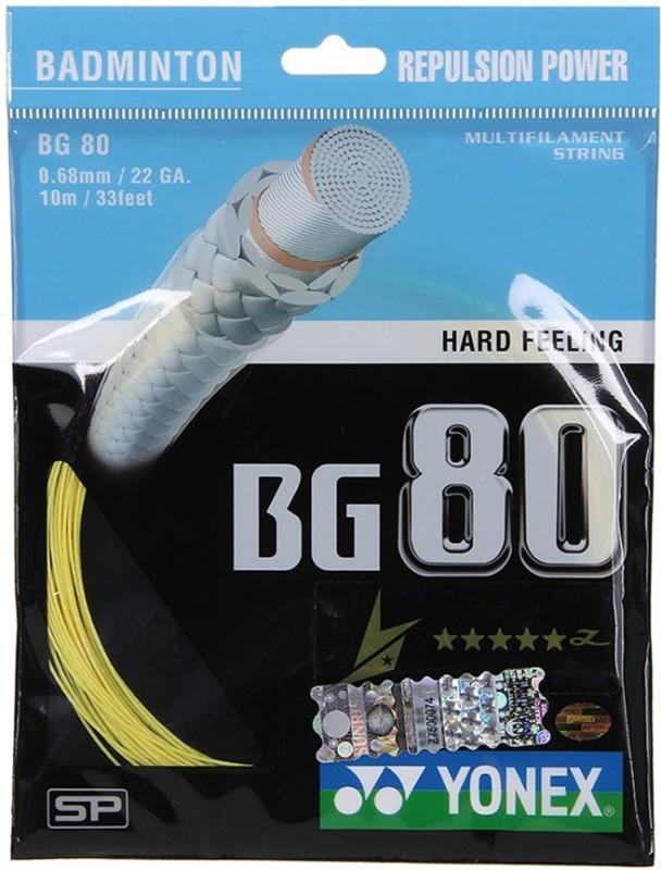 Yonex BG80 0.68 Badminton String - 10 m(Yellow)