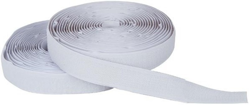 Vardhman Vardhman Strong self adhesive backing hook & loop touch fastner tape,, (White), 5 mts pack, 20 mm width Stick-on Velcro(White)