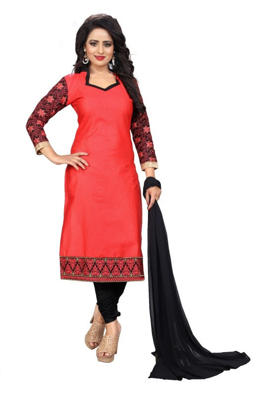 ejoty fashion Cotton Embroidered Suit Fabric(Un-stitched)
