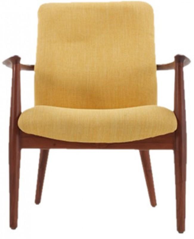 HOF Aaram Fabric Office Arm Chair(Yellow)