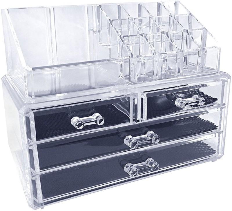 EAZYSHOPPE Cosmetic Organizer multipurpose Vanity Box(Transparent)