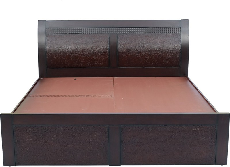 shop klass Engineered Wood King Bed With Storage(Finish Color - brown)