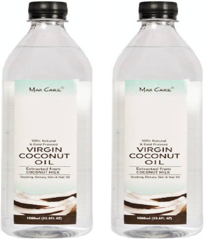 MAXCARE Virgin Coconut Oil (Cold Pressed) Baby Massage Hair Oil(2000 ml)