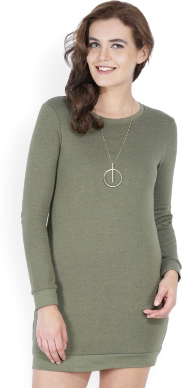 Forever 21 Womens Sweater Green Dress