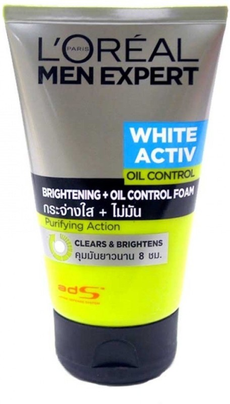 LOreal men expert white activ oil control brightening foam Face Wash(100 ml)