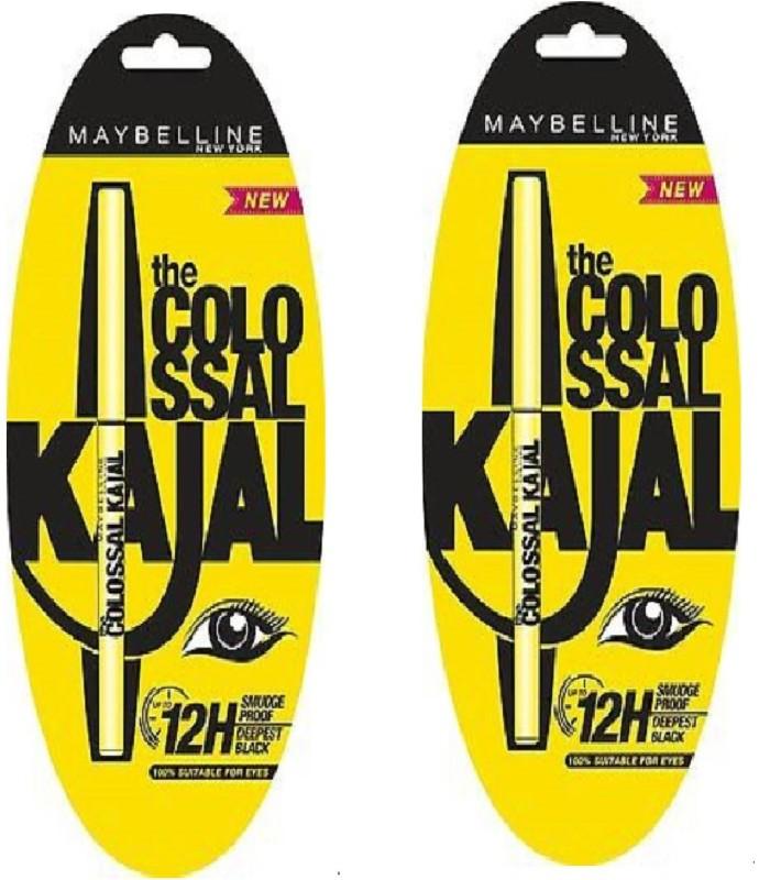 Maybelline The Colossal Kajal (set of 2 ) 0.35 g(Black)