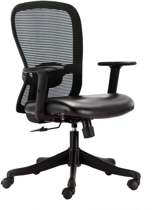 HOF Marco 1014 Leatherette Office Arm Chair(Black)