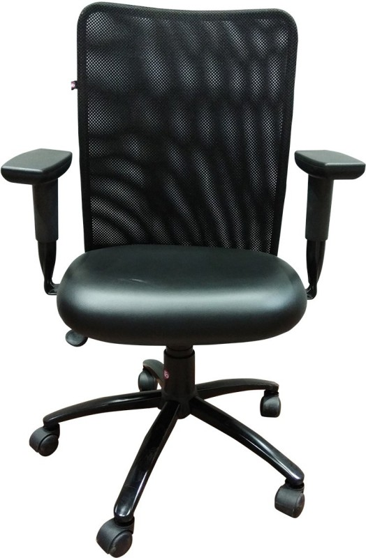 HOF KAR 3004 M Protected Leather Office Arm Chair(Black)