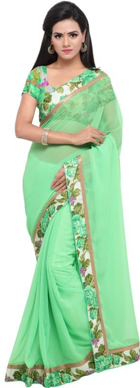 Sanku Fashion Self Design, Digital Prints Daily Wear Georgette Saree(Light Green)