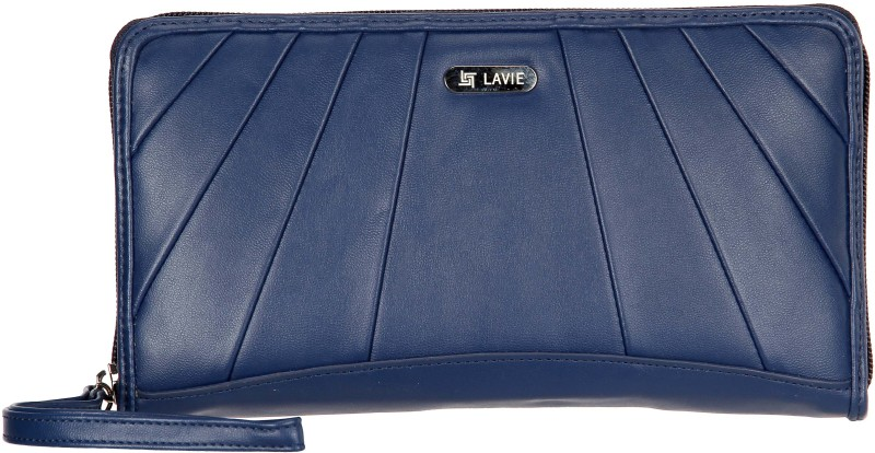Lavie Women Blue Artificial Leather Wallet(11 Card Slots)