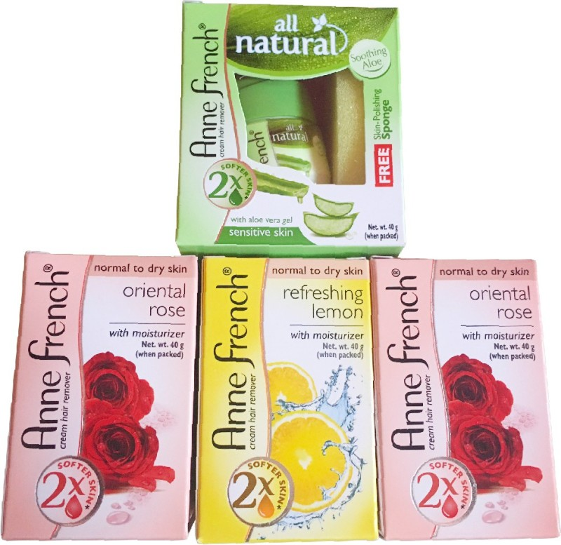 Anne French Combo of Aloe, Lemon and Rose ( pack of 4 ,40 gm Each) Cream(40 g)