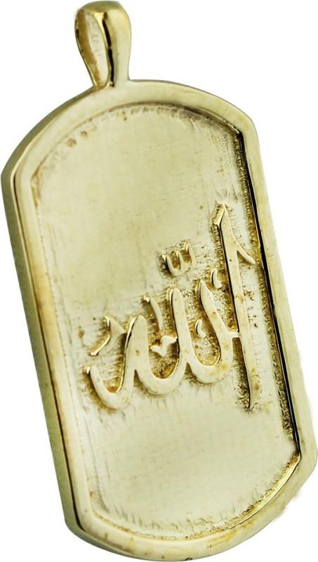 Bhargava Gems Plated Allah Pendant Yellow Gold Brass Pendant