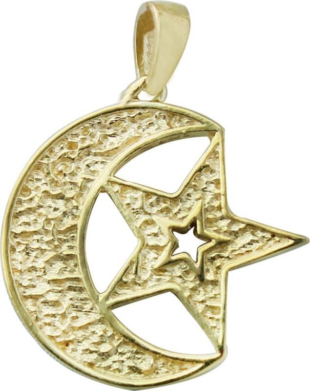 Bhargava Gems Chand Tara Pendant Yellow Gold Brass Pendant