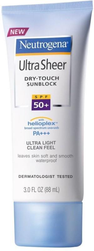 Neutrogena Ultra Sheer Sunblock Cream - SPF 50+ PA+++(88 ml)