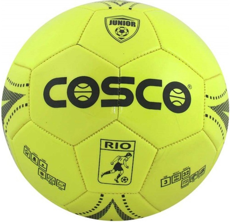 Cosco Rio Kids Football - Size: 3(Pack of 1, Yellow)
