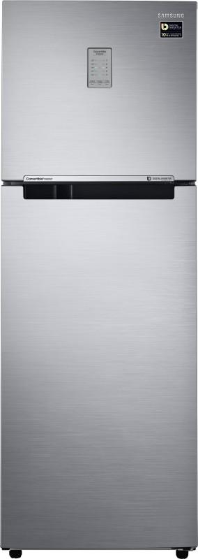 Samsung 321 L Frost Free Double Door Refrigerator(Elegant Inox, RT34M3723S8-HL/...