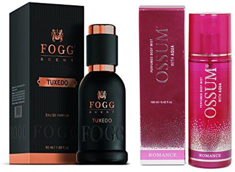 FOGG COMBO PACK OF OSSUM ROMANCE PERFUME + FOGG TUXEDO PERFUME Eau de Parfum - 240 ml(For Men & Women)