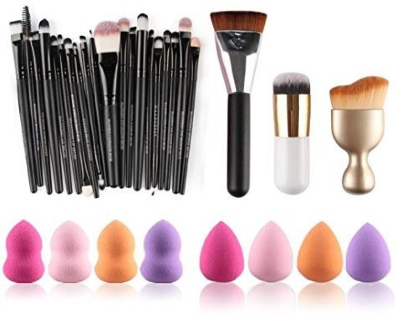 Hunputa 31pc Cosmetic Makeup Brush Sponge Foundation Makeup Brush Powder Puff Brush (as The Picture Show)(Pack of 23)