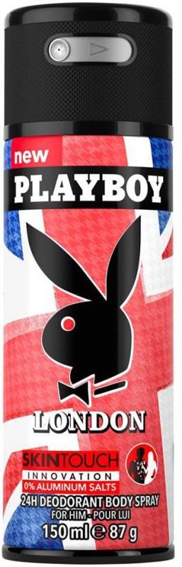 Playboy Skin Touch Innovation Deodorant Spray - For Men(150 ml)