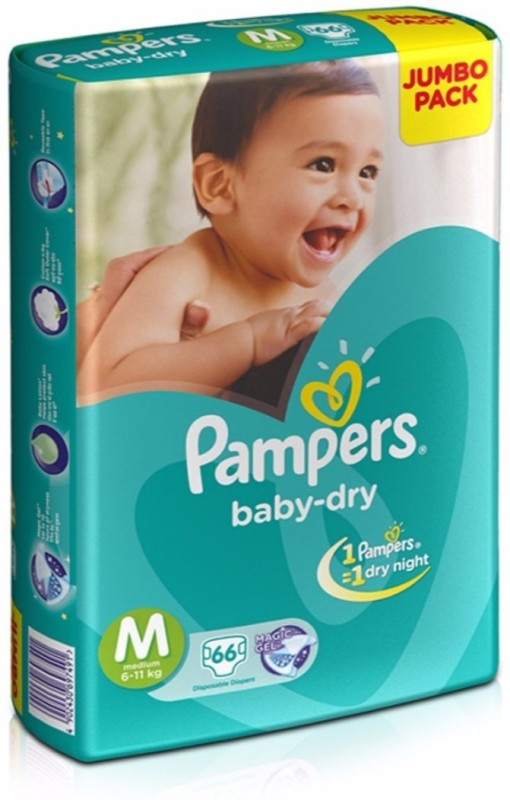 Pampers Baby-Dry Diapers - M(66 Pieces)