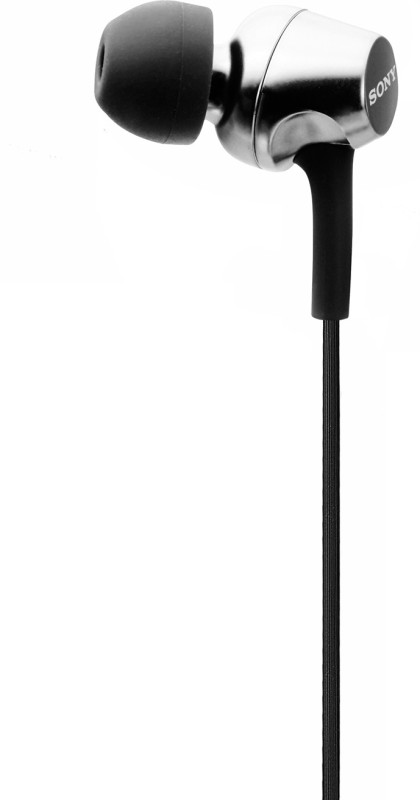 Sony EX155 Wired Headphone(Black, In the Ear)