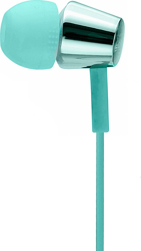 Sony MDR-EX155AP Headset with Mic(Light Blue, In the Ear)