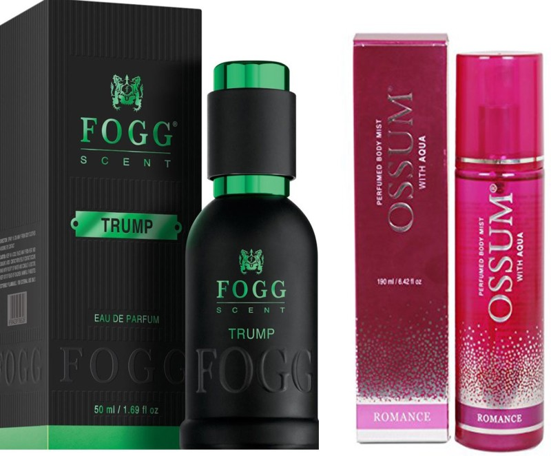 FOGG COMBO PACK OF OSSUM ROMANCE PERFUME 190 ml + FOGG TRUMP PERFUME 50 ML Extrait De Parfum - 50 ml(For Men)