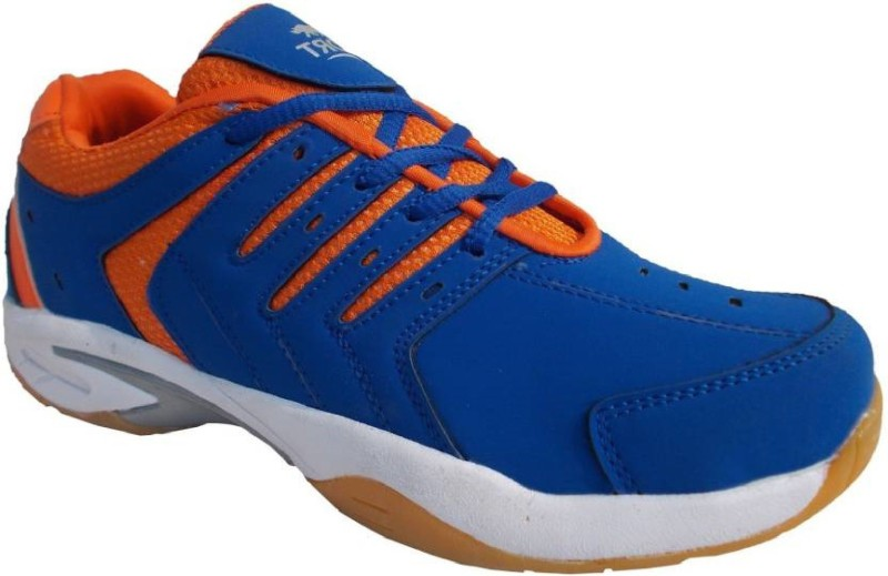 PORT Mens Orange Activa PU Basketball Shoes(Orange)